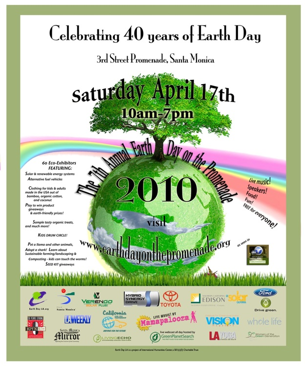 EARTHDAY SOLAR STAGE IN SANTA MONICA, MAMAPALOOZA, Joy Rose, NetteRadio, Stacy Robin, Native American Blessing, Scarlet Raven Hawk , Jason Luckett, Wild Roots , Kids On Stage For A Better World , Sista Jean , Seeing Thingz , Green Power Girl, Sabina and Free To Be Me Drum Circle , Stacy Robin and The Mama Earth Band , Plastic Dance Band , Black Cadence , Kevin McKeown, Santa Monica City Councilmember, Women On The Move